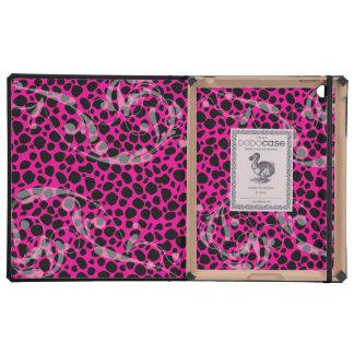 Modelo del guepardo de las rosas fuertes iPad coberturas