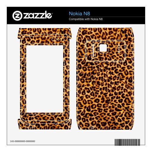 Modelo del guepardo nokia n8 calcomanías