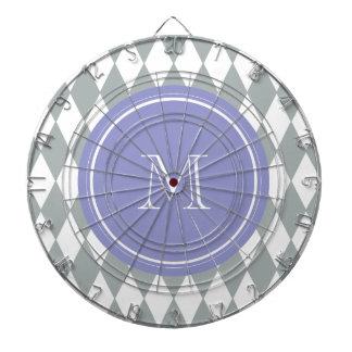 Modelo del Harlequin del blanco gris monograma vi