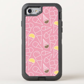 Modelo del helado del verano funda OtterBox defender para iPhone 7