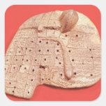 Modelo del hígado de una oveja pegatina cuadrada