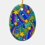 Modelo del Hippie de la estrella fugaz Ornaments Para Arbol De Navidad