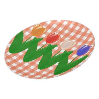 Modelo del holandés de los tulipanes platos de comidas