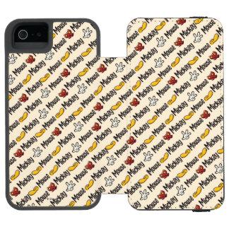 Modelo del icono de Mickey Funda Cartera Para iPhone 5 Watson