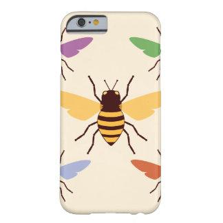 Modelo del insecto del vintage de los abejorros de funda de iPhone 6 barely there