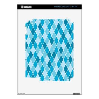 Modelo del invierno del Harlequin iPad 3 Skins
