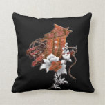 Modelo del japonés de la balsa de la flor almohada
