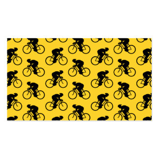 Modelo del jinete de la bicicleta. Amarillo y Tarjetas De Visita