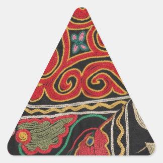 Modelo del Kazakh Pegatina Triangular