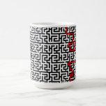 Modelo del laberinto tazas de café
