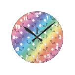 Modelo del lacrosse del arco iris reloj