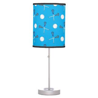 Modelo del lacrosse del azul de cielo lámpara de escritorio