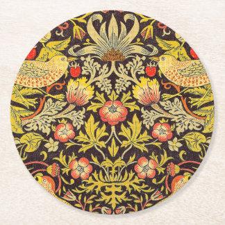 Modelo del ladrón de la fresa de William Morris Posavasos De Cartón Redondo