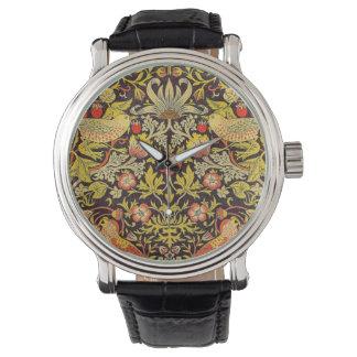 Modelo del ladrón de la fresa de William Morris Relojes De Pulsera