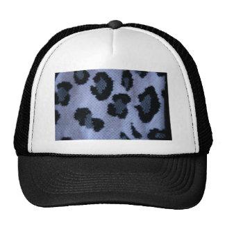 Modelo del leopardo, blanco gris y negro manchados gorra