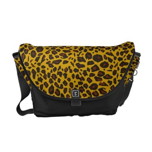 Modelo del leopardo bolsas de mensajería