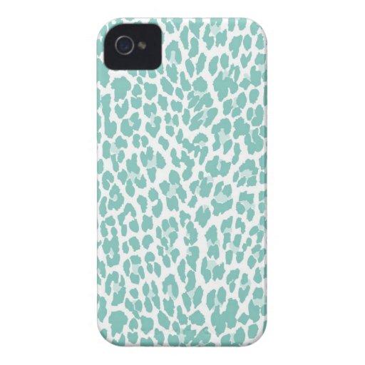 Modelo del leopardo de la menta carcasa para iPhone 4