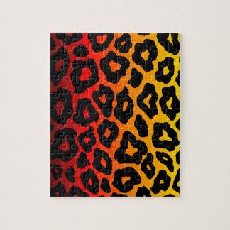 Modelo del leopardo de la MOD Firey Rompecabeza Con Fotos