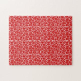 Modelo del leopardo de la MOD Rompecabezas Con Fotos