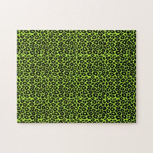 Modelo del leopardo de la MOD Puzzle Con Fotos
