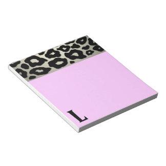 Modelo del leopardo del estallido blocs de notas