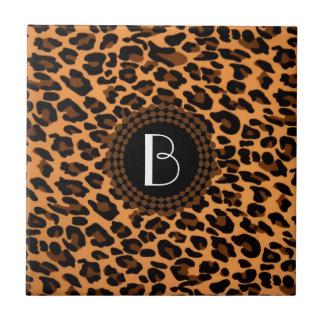 Modelo del leopardo del estampado de animales azulejo cuadrado pequeño
