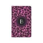 Modelo del leopardo del estampado de animales cuaderno grapado