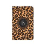 Modelo del leopardo del estampado de animales cuaderno