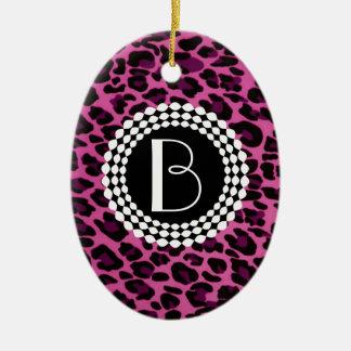 Modelo del leopardo del estampado de animales ornaments para arbol de navidad