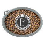 Modelo del leopardo del estampado de animales hebilla de cinturón