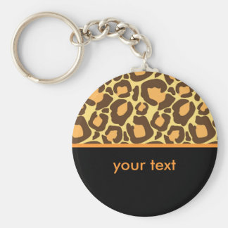 Modelo del leopardo llavero redondo tipo pin