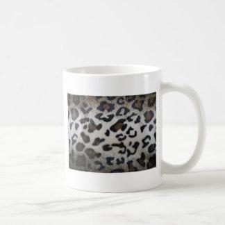 Modelo del leopardo primer natural de la piel de tazas