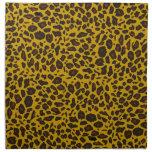 Modelo del leopardo servilletas imprimidas