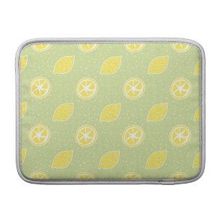 Modelo del limón de la verde lima fundas MacBook