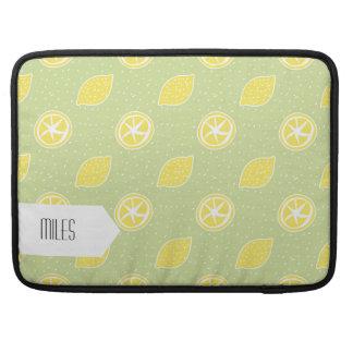 Modelo del limón de la verde lima funda para macbooks