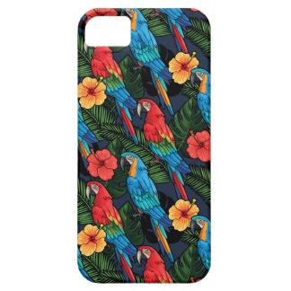 Modelo del Macaw y del hibisco Funda Para iPhone SE/5/5s