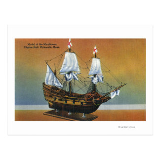 Modelo del Mayflower en la opinión de Pasillo del Tarjetas Postales