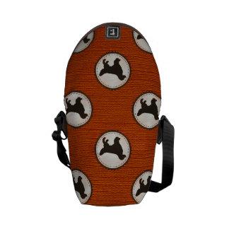 Modelo del medallón del perro del golden retriever bolsas de mensajeria