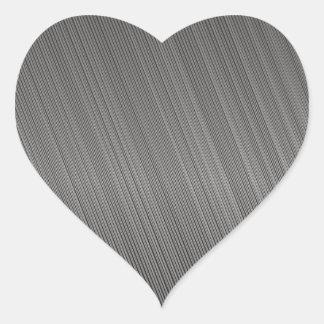 Modelo del metal pegatina de corazon