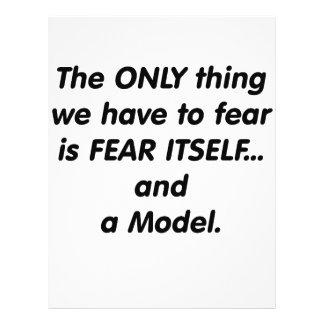Modelo del miedo flyer personalizado