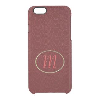 Modelo del moaré de Borgoña Funda Clearly™ Deflector Para iPhone 6 De Uncommon