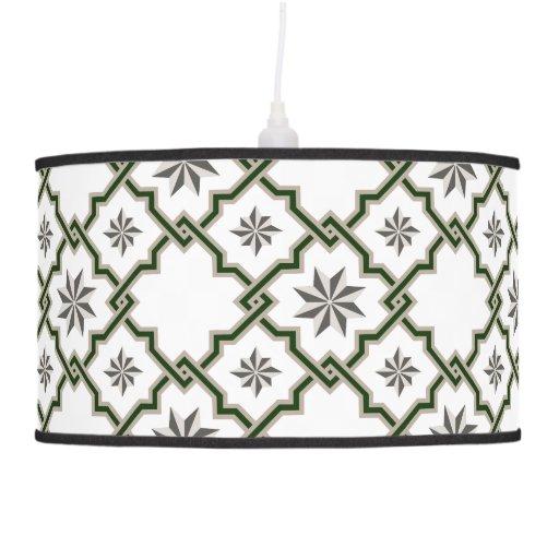 Modelo del Moorish - verde, gris, grisáceo - lámpa