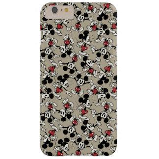 Modelo del moreno de Mickey Mouse Funda De iPhone 6 Plus Barely There