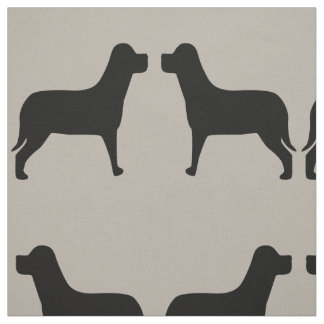 Modelo del negro del perro de dos Labrador Telas