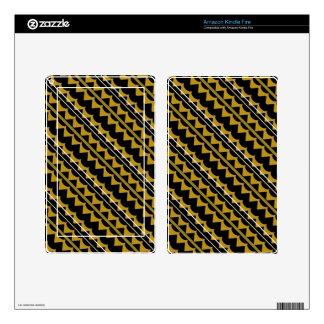 Modelo del negro y del oro Producto del personali Kindle Fire Pegatinas Skins