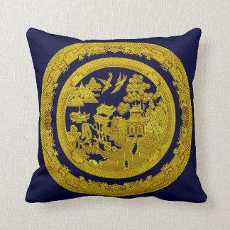 Modelo del oro del vintage almohada