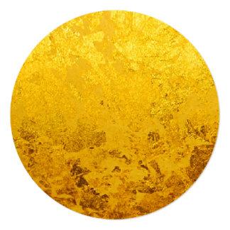 """Modelo del ORO/hoja de oro PUROS Invitación 5.25"""" X 5.25"""""""