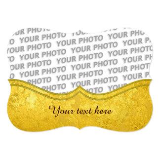 """Modelo del ORO/hoja de oro PUROS + su foto y texto Invitación 5"""" X 7"""""""