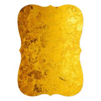 """Modelo del ORO/hoja de oro PUROS + su texto Invitación 5"""" X 7"""""""
