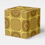 Modelo del oro paquete de regalo para fiestas